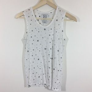 Zoe Krassen Star Print sleeveless tee shirt